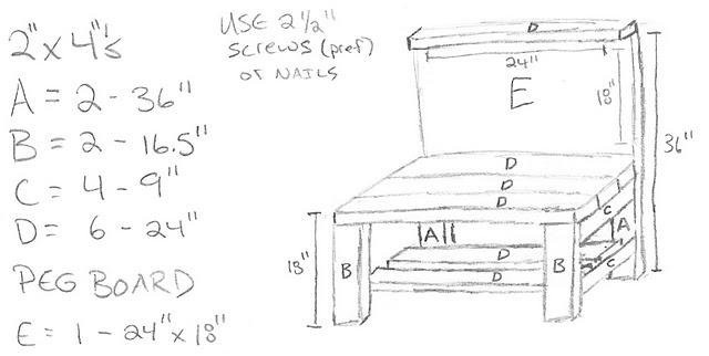 DIY | Play Workbench *MEASUREMENTS*