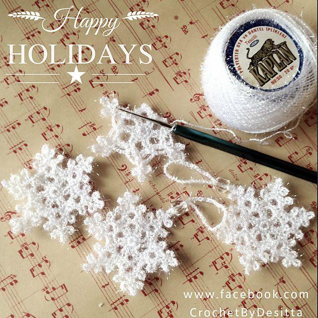Mejores 23 imágenes de CrochetByDesitta en Pinterest | Copos de ...