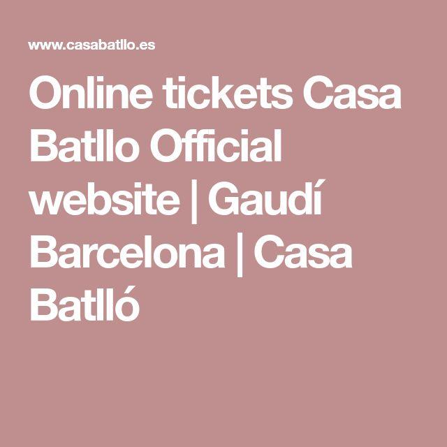 Online tickets Casa Batllo Official website | Gaudí Barcelona | Casa Batlló