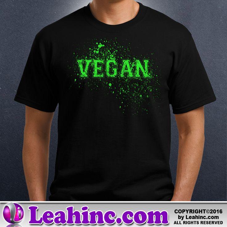 Vegan, Vegetarian, Causes, Men's, Ladies, Shirts, Grunge
