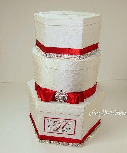 wedding card box reception card holder by laceyclairedesigns