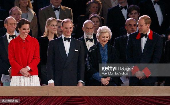 Catherine Duchess of Cambridge Donatus Prince and Landgrave of Hesse Princess Alexandra and Prince William Duke of Cambridge attend the final night...