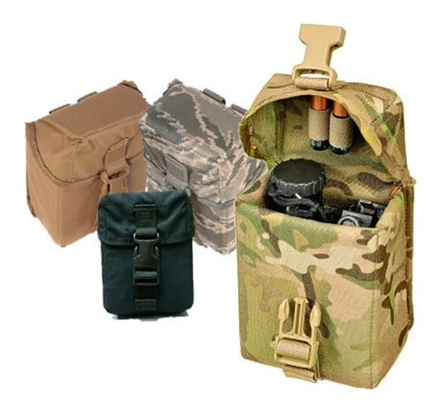 Raine Inc: PVS14 Padded Case - Holds The Full PVS14 Night Vision Assembly And Other Gear Needing Protection (binoculars etc). Tough Padded Nylon Offers Maximum Protection For Valuable Gear and MOLLE Compatible Attachment.