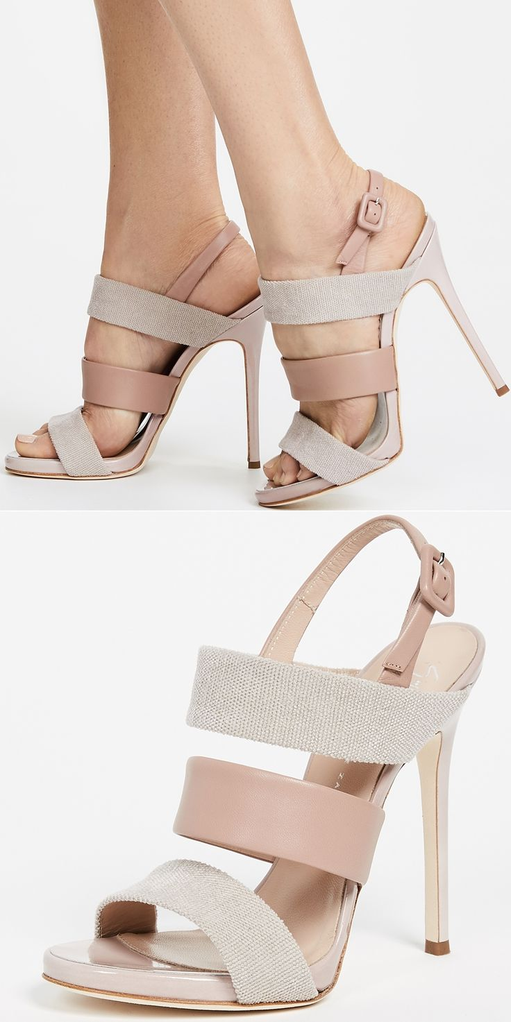 Strut in style in these Giuseppe Zanotti sandal pumps, and feel as poised and confident as a celebrity on your next night out. A charming neutral color lets these compliment any dress you choose.