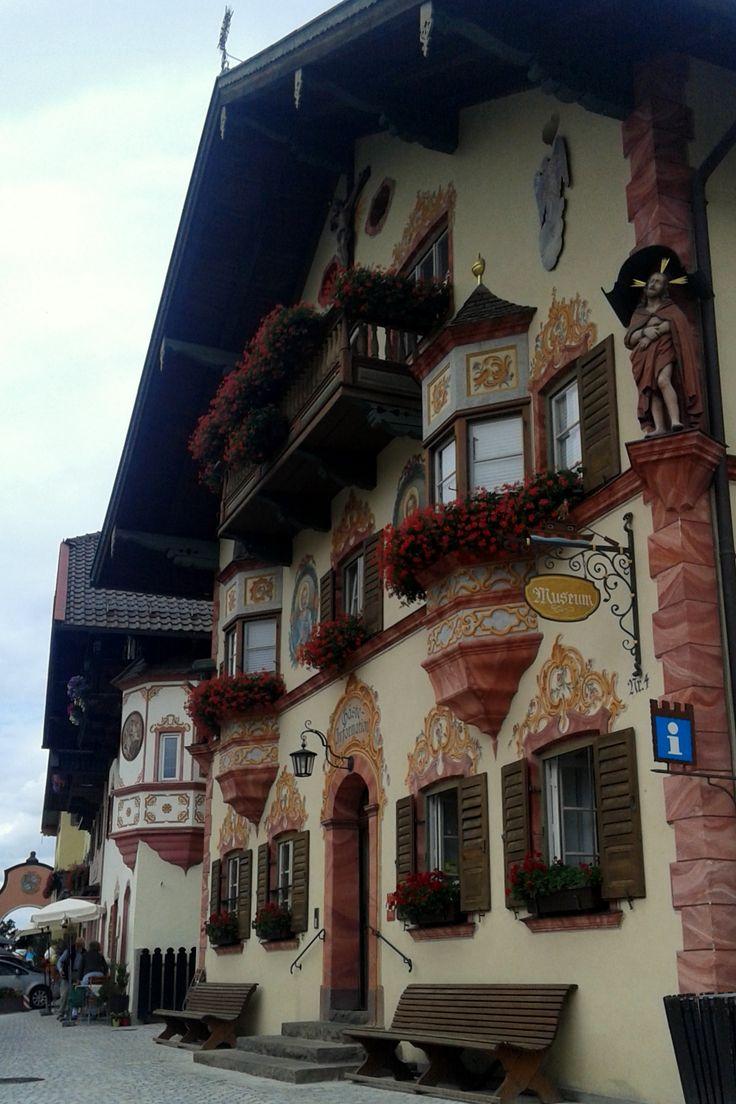 Beautiful bulding in Neubeuern, Bayern, Germany
