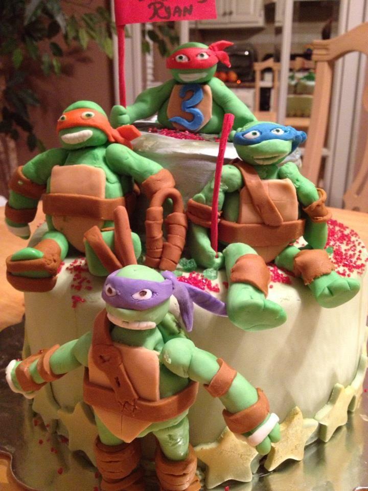 teenage muntant nija turtles cake