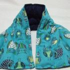 """Large Microwave Heating Neck and Shoulder Wrap """"Owls"""" 9 X 26"""
