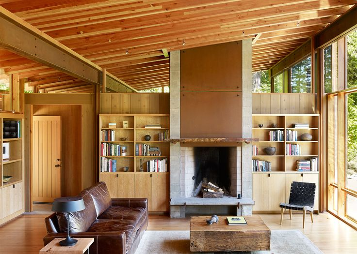 Cutler Anderson Builds Wooden House Over An Oregon Pond