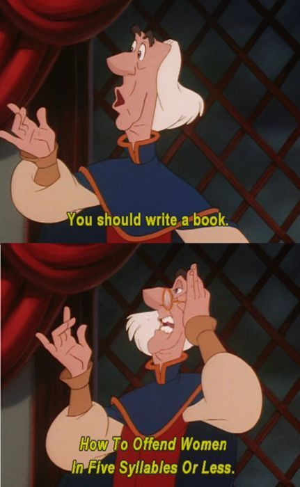 The Swan Princess how to offend women in 5 syllables or less