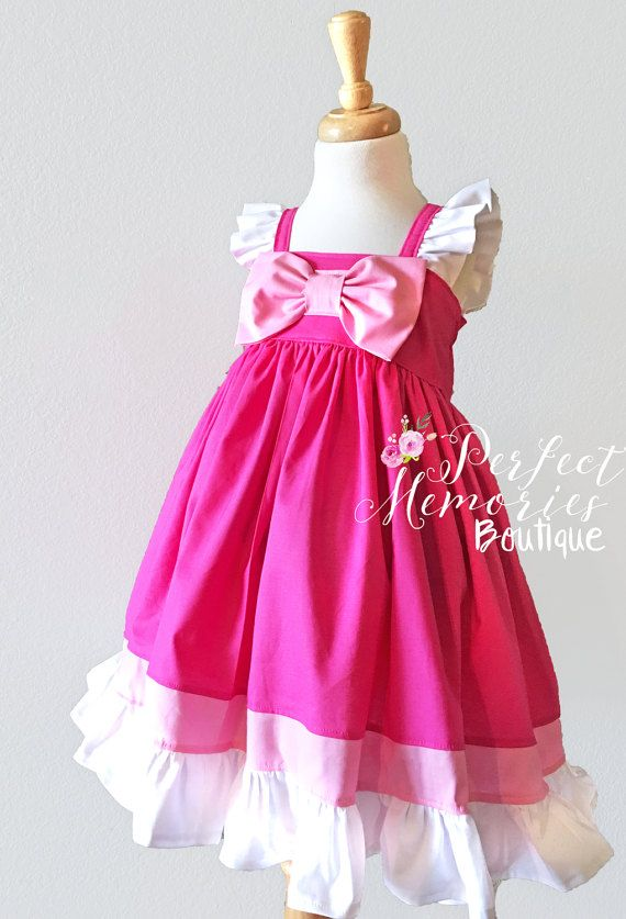Cinderella Dress | Pink Cinderella Dress | Cinderella Birthday Party | Disney Princess Dress | Aurora Dress | Halloween Costume | Dresses Available Size: Newborn - 8 Tween & Adult Sizes Available Upon Request - Premium quality 100% cotton fabrics - Big Light Pink Bow (Attached) - Perfect
