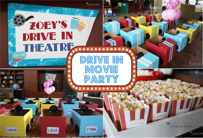 Drive In Movie Theater Party, Part 2: How to Make Cardboard Cars   come on, ilene!