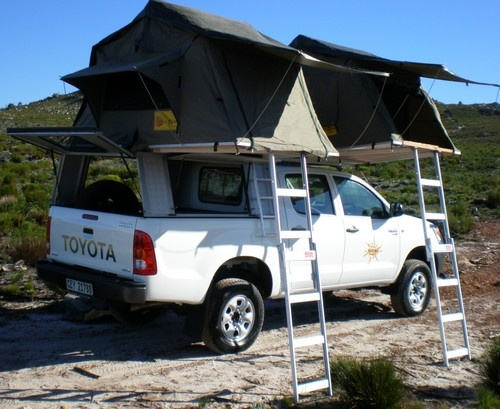 Africamper Double Cab 4x4 With Two Roof Top Tents