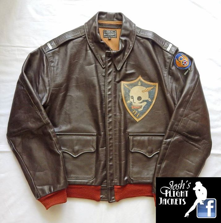 d63241eb69a WWII US Army Air Force Nose Art Pin up Hand Painted Flight Jacket A-2 Aero  Leather