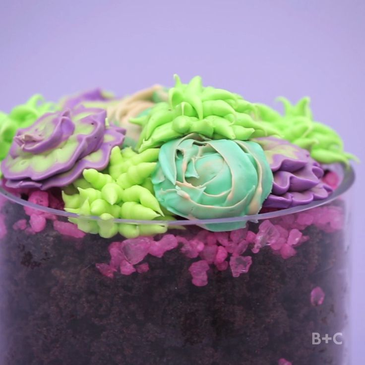 Watch this decorating video recipe DIY tutorial to learn how to make succulents with frosting.