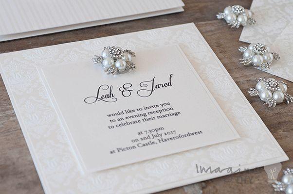 Alessandra Paper White Wedding Invitations Diy Diy Wedding Stationery