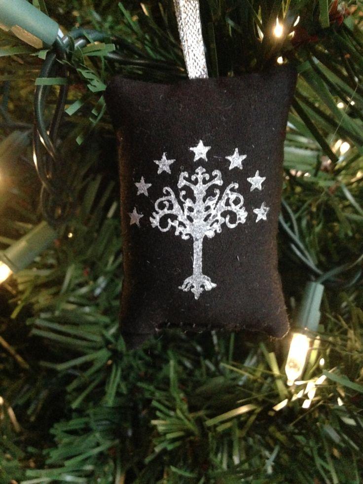 White Tree Gondor Christmas Ornament Lord Fellowship Ring
