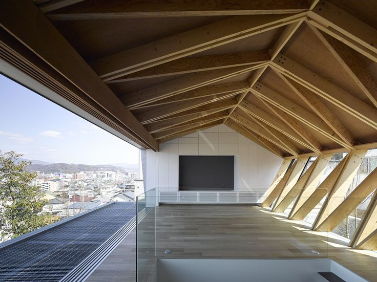 Built by APOLLO Architects & Associates in Matsuyama, Japan with date 2015. Images by Masao Nishikawa. The client of this project, working in an advertising agency as a graphic designer, acquired a piece of land on a hil...