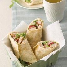 WeightWatchers.be - Weight Watchers Recepten - Wraps met kalkoenreepjes