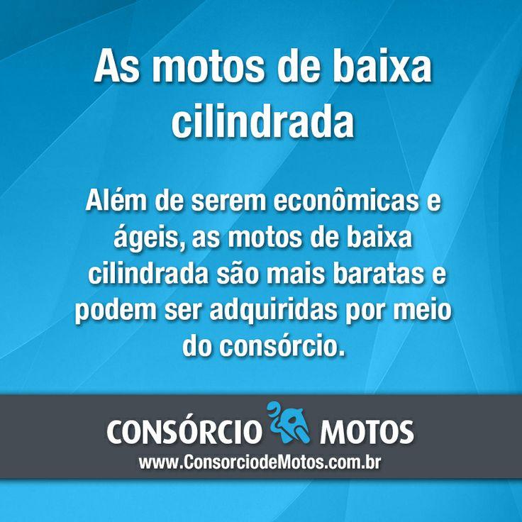 #DicasParaMotos  Os modelos de baixa cilindrada são uma excelente escolha para quem quer preços baixos. Veja: https://www.consorciodemotos.com.br/noticias/simples-e-eficientes-as-motos-de-baixa-cilindrada?idcampanha=288&utm_source=Pinterest&utm_medium=Perfil&utm_campaign=redessociais