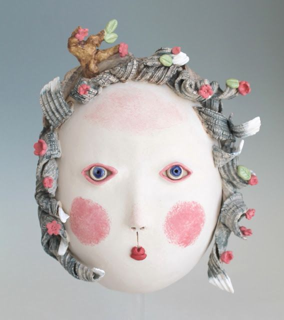 DoGoo - Contemporary Clay Idols: Blossom in the wind, Girl with red shoes and Black...