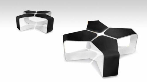 Moderne attraktive Couchtische fürs Wohnzimmer – 50 coole Bilder - trendy eigenartige kaffeetische schwarz weiß interessante idee