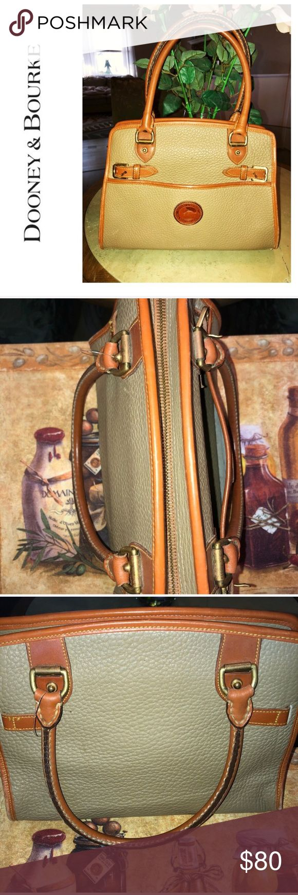 Vintage Rare Dooney & Bourke Bag 🌺 🌻Army Green and Patina Leather  🌻100% Authentic  🌻Clean interior and exterior !  🌻Smoke free home no heavy perfume odors! 🌻Same day or next day shipping  🌻HAPPY POSHING 🌻 Dooney & Bourke Bags Shoulder Bags