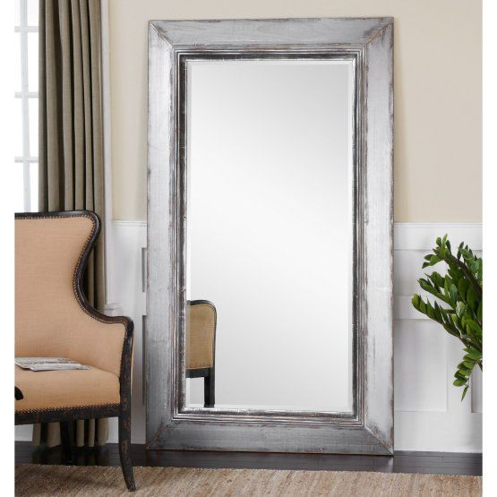 Images Photos Uttermost Lucanus Oversized Silver Leaner Mirror W x H in