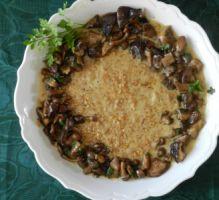 Recette - Risotto d'épeautre aux champignons, jus d'un rôti - Notée 4.6/5 par les internautes