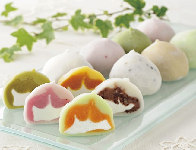 daifuku - (cream filled mochi) stylish japanese food