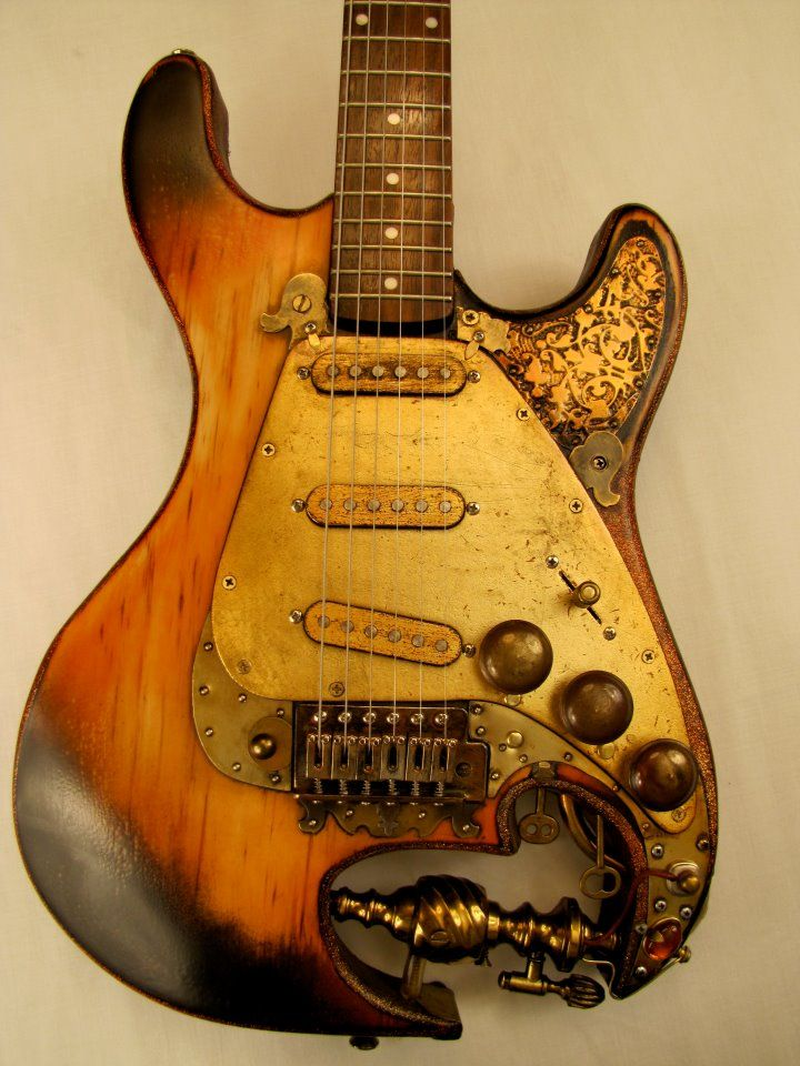 Steampunk Guitar by Tony Cochran                              …