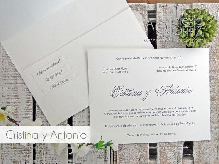 Invitaciones de boda clásicas con ranuras para boletos / wedding invitations