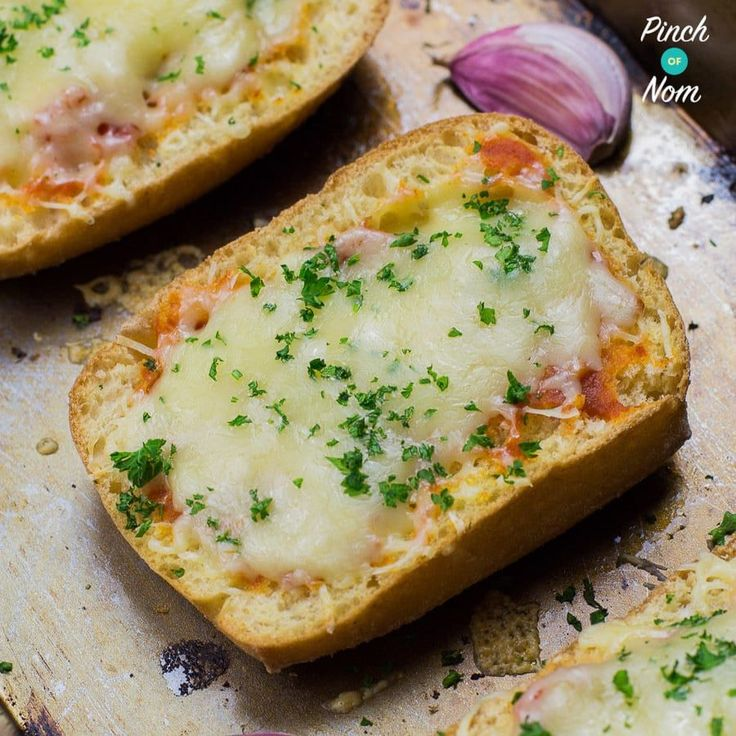 Garlic bread using Wholemeal bread isn't my idea of fun, so we made this Slimming World Syn Free Cheesy Garlic Bread using Schar White Ciabatta.