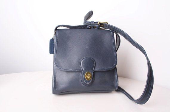 Vintage Coach Leather Bag  Coach Purse  1970s Coach by aiseirigh, $135.00