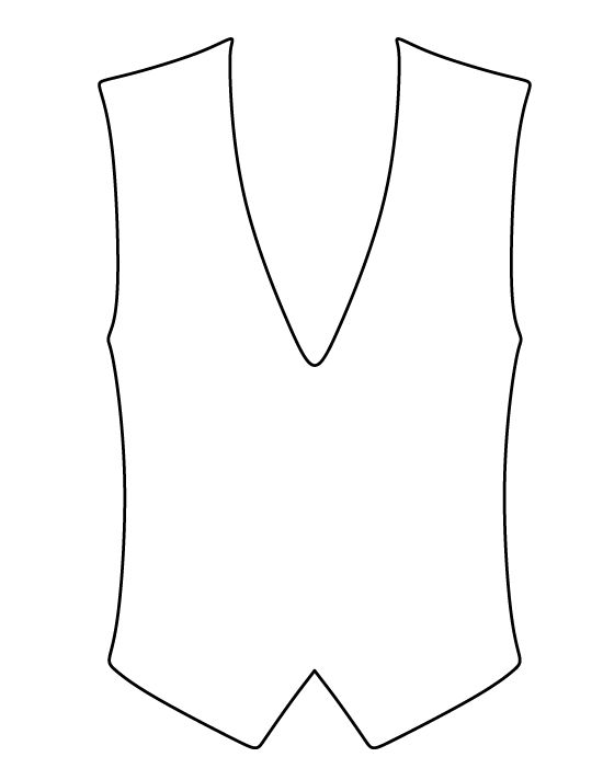 Peaceful image within printable vest pattern
