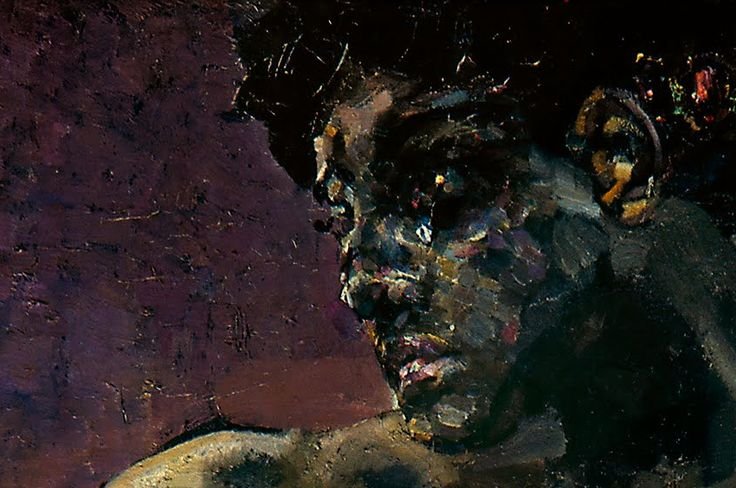 Mikhail Vrubel, Demon (sitting) (detail)