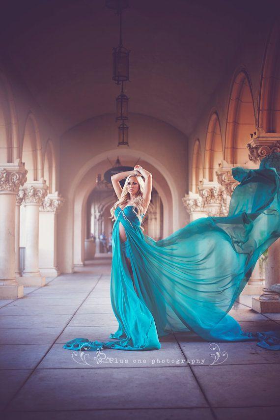Rachel Gown / Vestido de maternidad de por SewTrendyAccessories