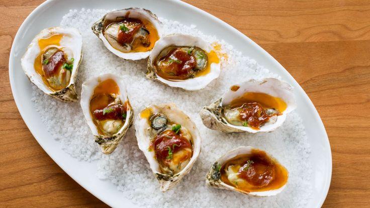 Huîtres et sauce BBQ aux fruits de la passion