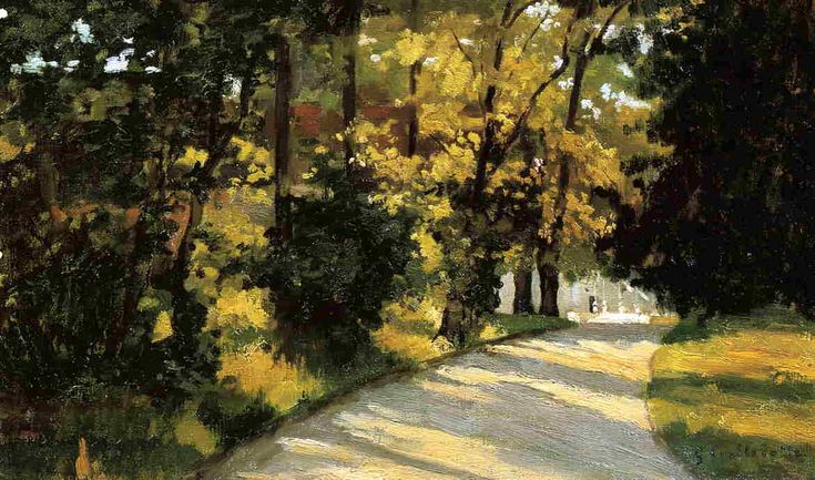 urgetocreate: Gustave Caillebotte, Yerres, Path Through the Woods in the Park, ca.1871-78