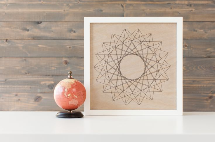 DIY Geometric Star Home Decor piece that's completely unique made with your Cricut Explore!