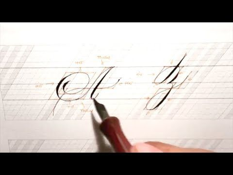 Satisfying Hand Lettering Calligraphy compilation - YouTube