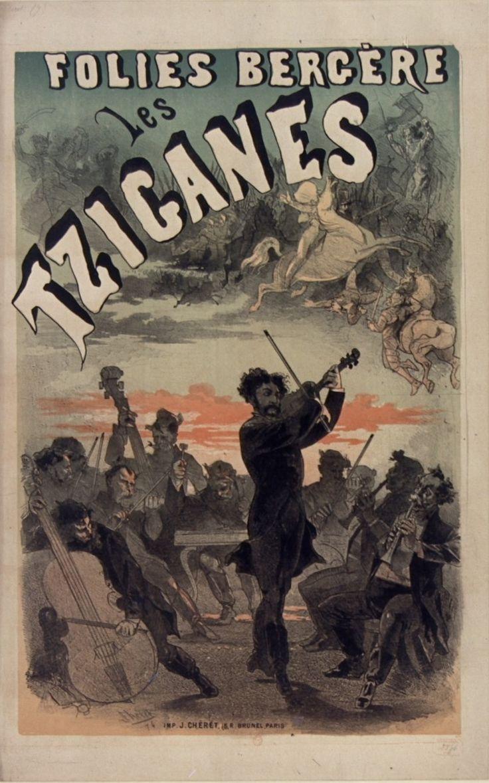 1874, Jules Chéret, Les Tziganes, Folies-Bergère, Paris (Bibliothèque nationale de France) [Jules Cheret, Folies Bergere, Жюль Шере, Фоли-Бержер]