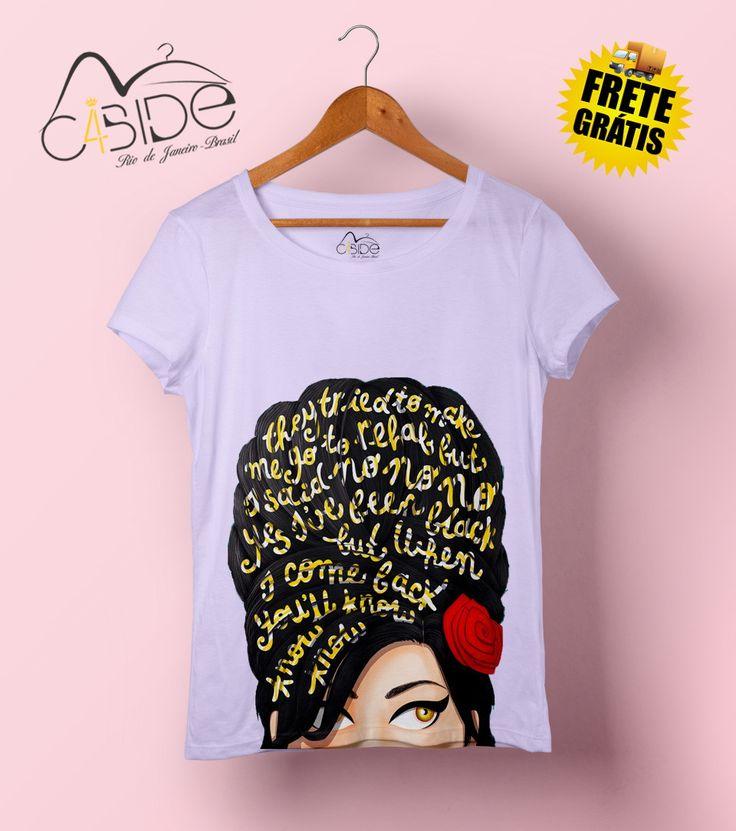 T-shirt feminina Amy | C4bide | Elo7