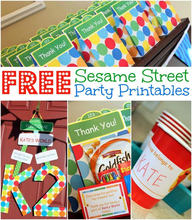 Free Sesame Street Birthday Party Printables, Free Elmo Birthday Party Printables | www.allthingsgd.com