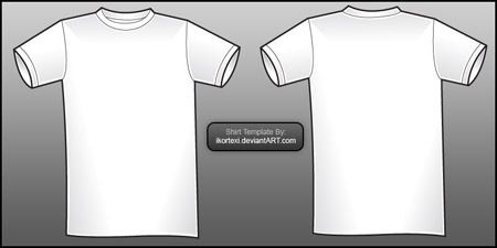 19 Free Blank T Shirt Template Designs