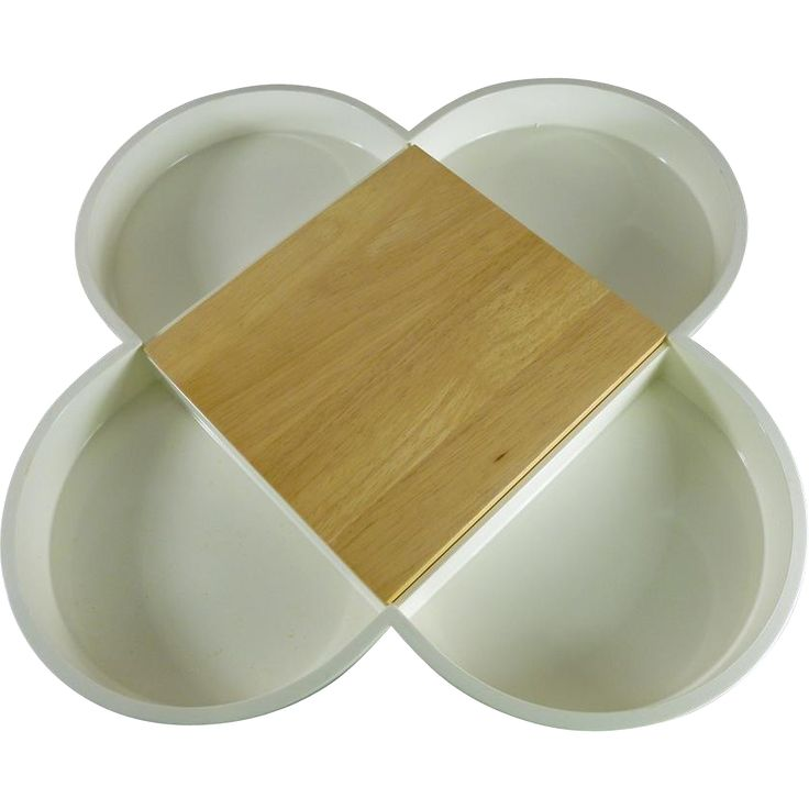 Mid-Century Modern Dansk Appetizer Tray with Cutting Board
