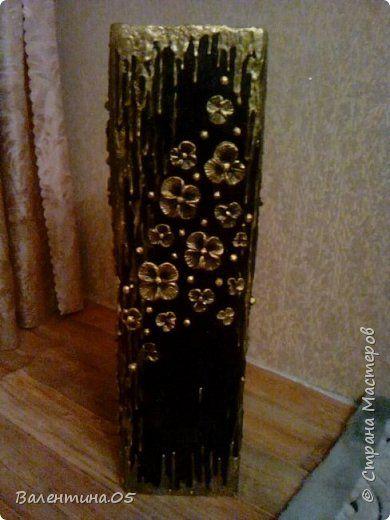 Поделка изделие Картонаж напольная ваза Картон фото 1