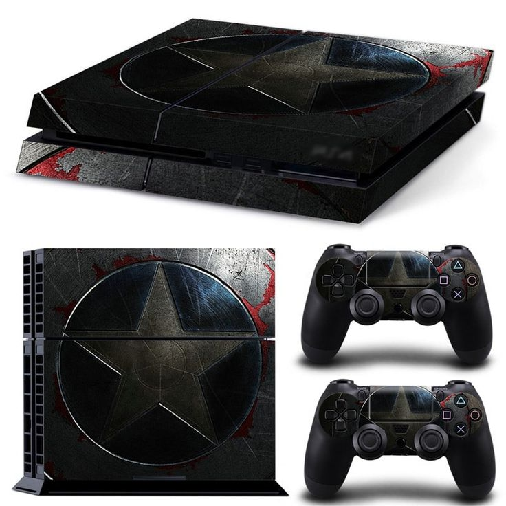 PS4 Skin Captain America Decal  2x Controller Skins