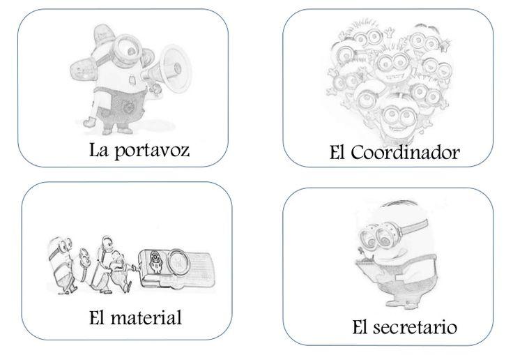 Fichas para pegar en la mesa de cada miembro de un equipo de aprendizaje cooperativo