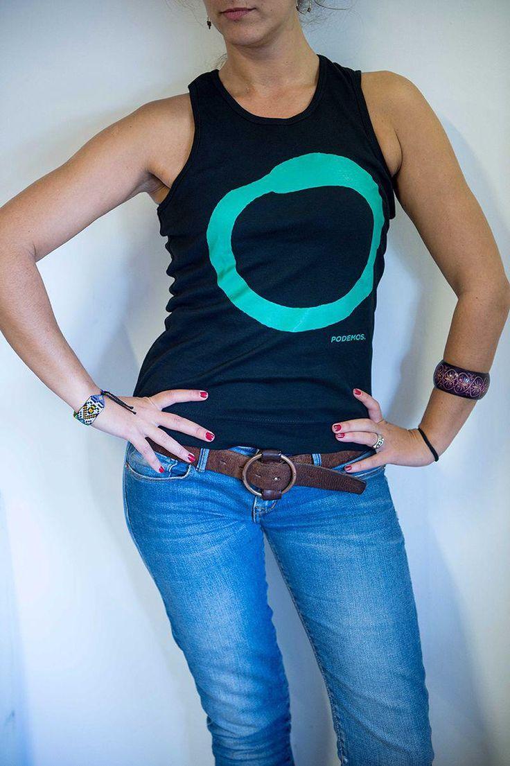 Camiseta negra mujer tirantes