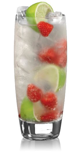 Bacardi Razz & Sprite - 2 parts BACARDI Razz, 4 parts Sprite, Fill a glass with ice and add 10 raspberries and limes